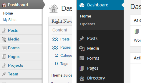 WordPress 3.7 vs. 3.8 (admin sidebar)