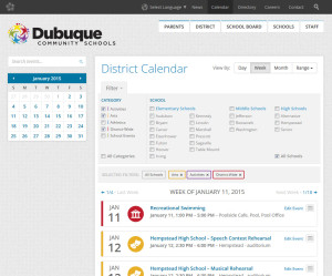 Calendar for Dubuque Community Schools.