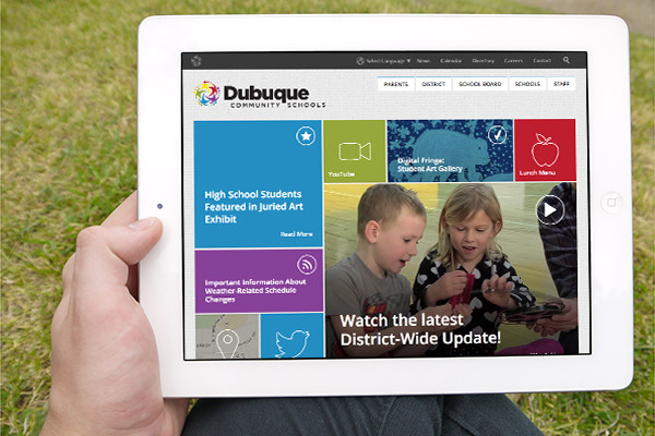 Designing a new website for the Dubuque Community School District