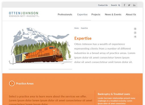 otten johnson expertise screens