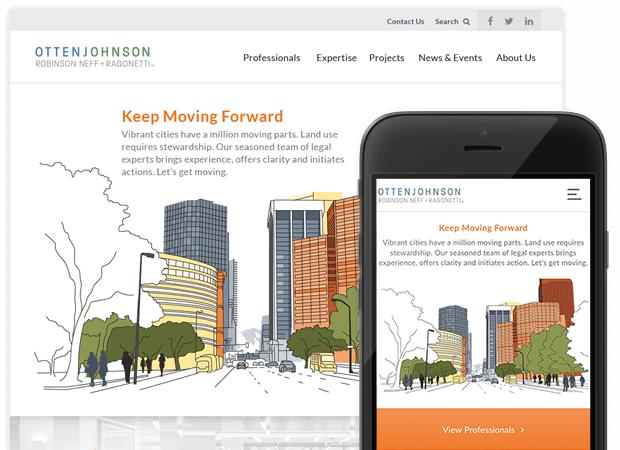 otten johnson homepage screens