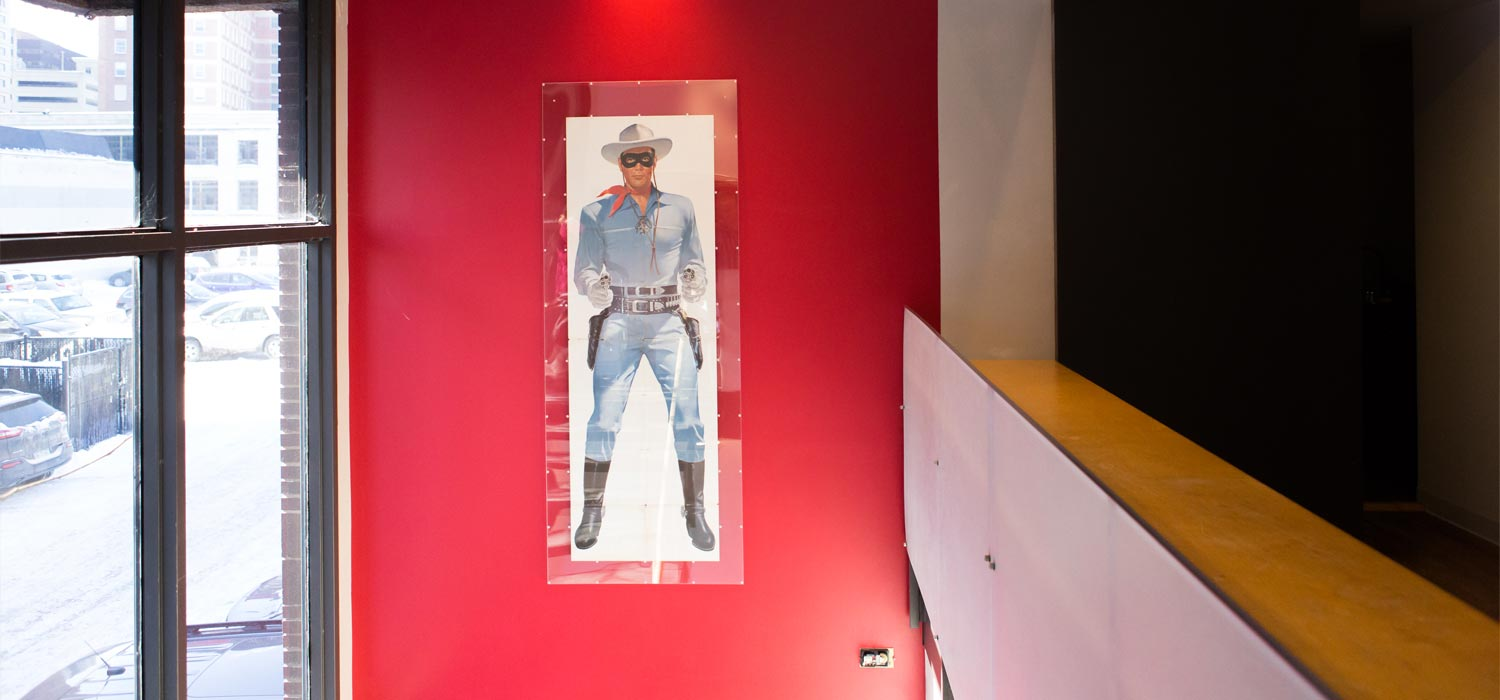 lone ranger cowboy print on wall
