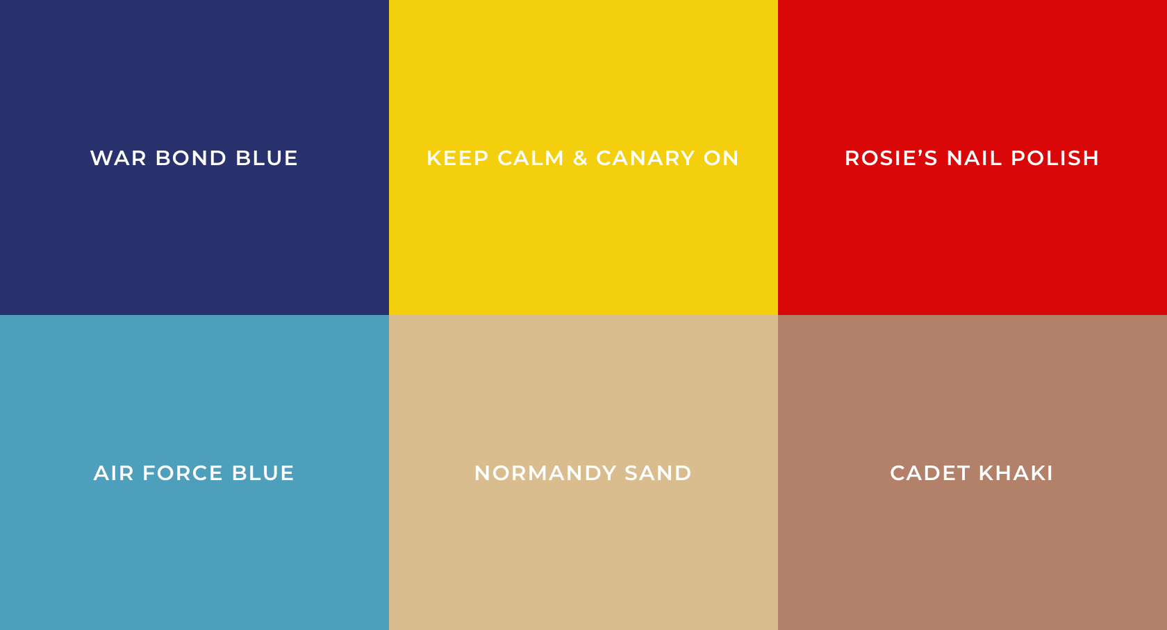 1940s Color Palette
