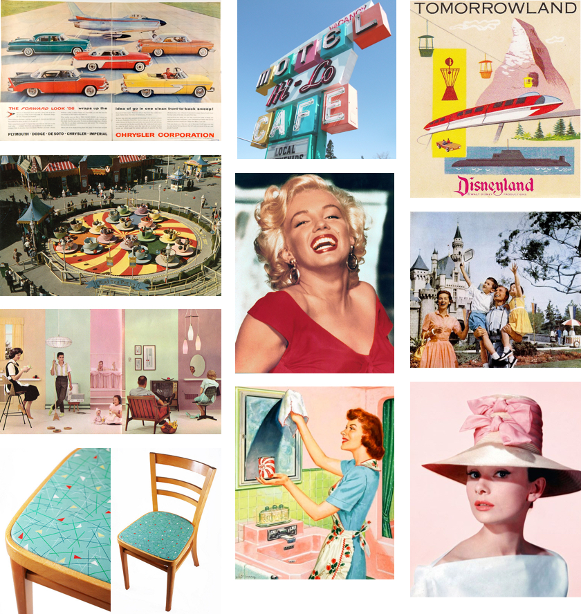 Colors of the 1950s Collage