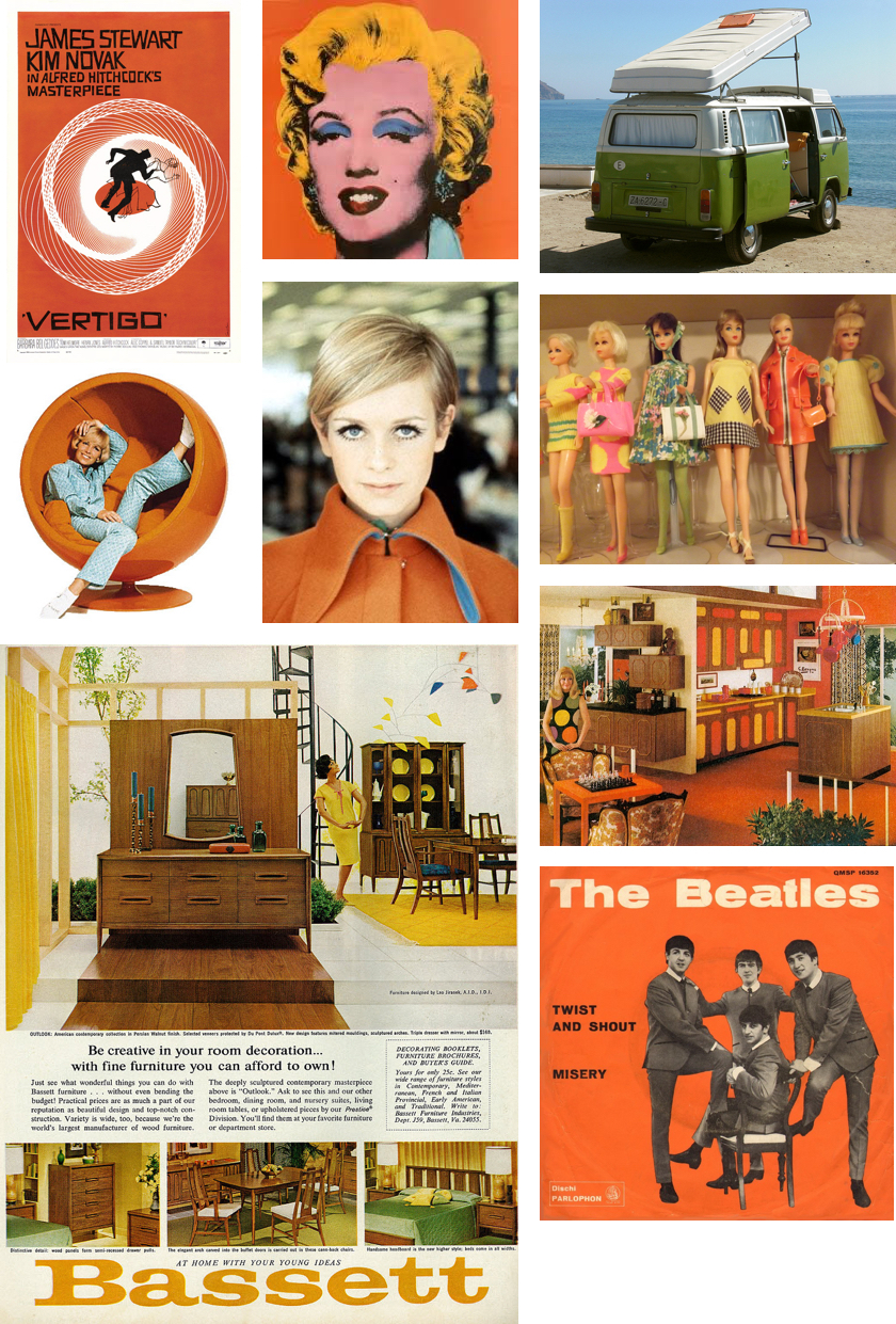 Colors of the 1960s Collage