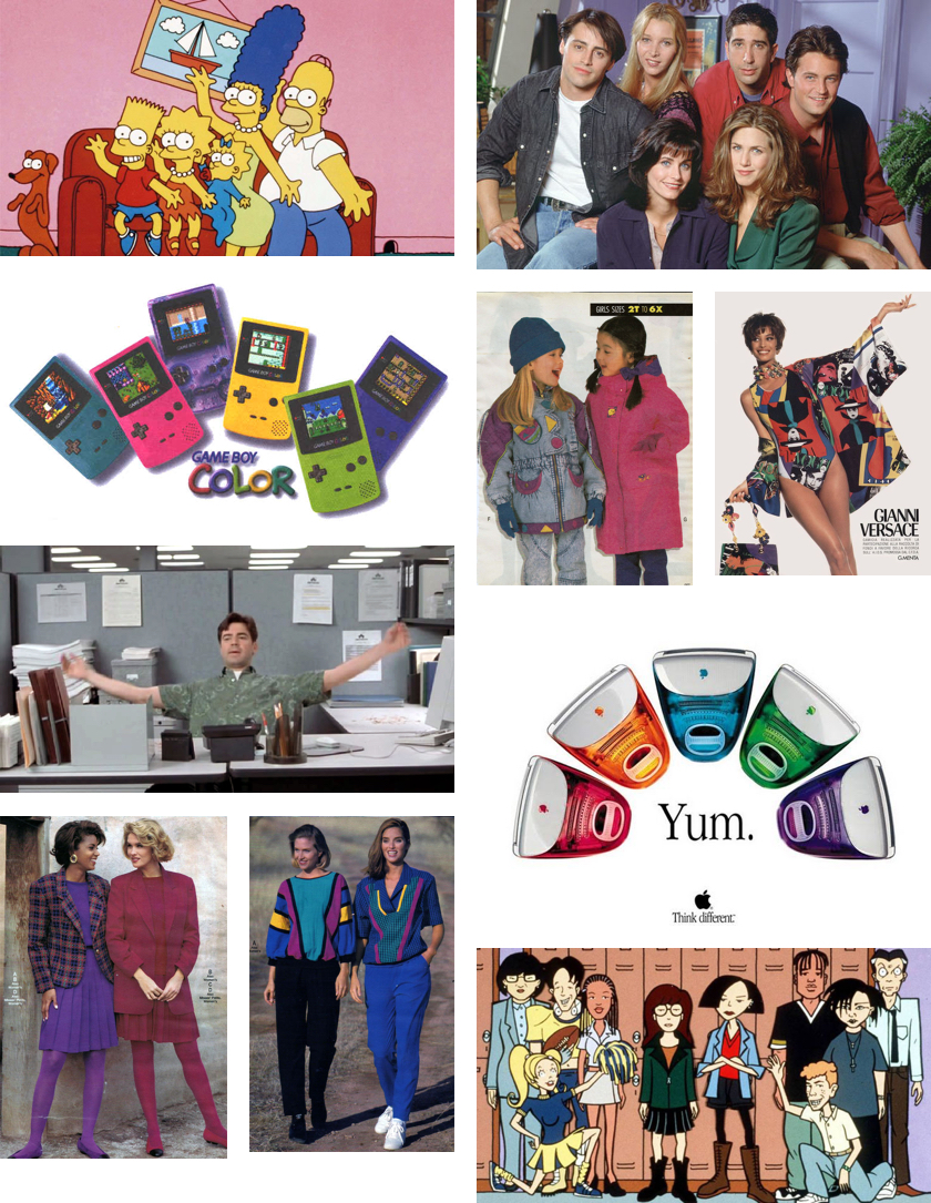Colors of the 1990s Collage