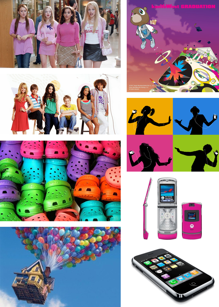 Colors of the 2000s Collage