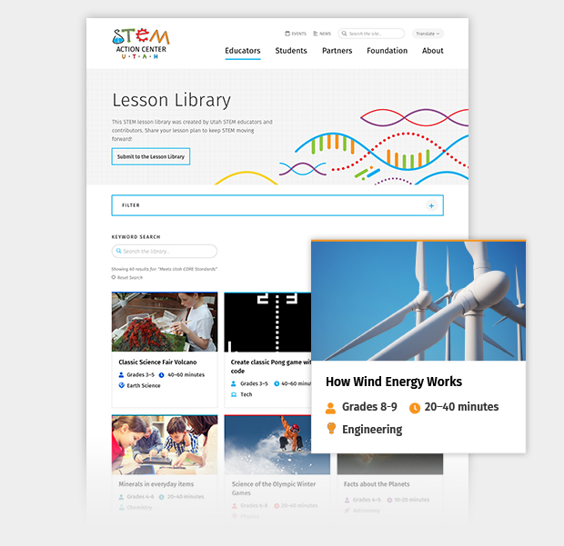 UtahSTEM Feature LessonLibrary