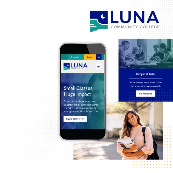 Collage of elements from Luna's website